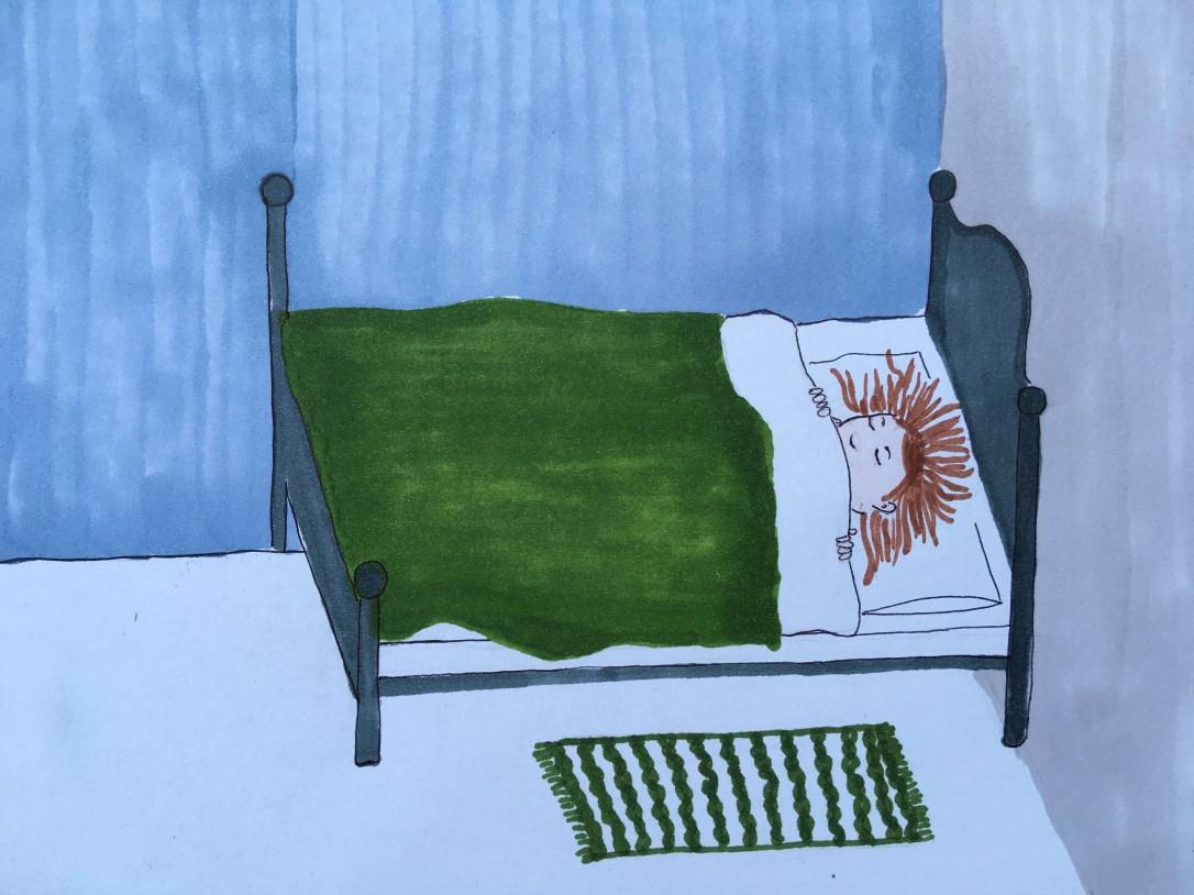 beroerd in bed- ontzwangeren