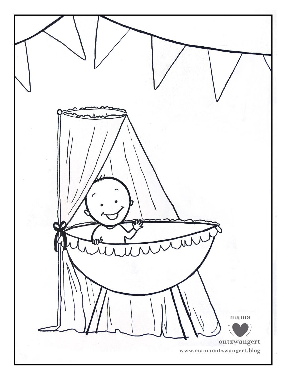 Kleurplaten Baby Geboorte.Voor Jou De Leukste Baby Kleurplaat Mama Ontzwangert Over